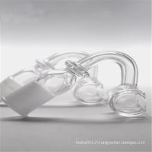 Rectangle Quartz Banger pour tabac avec joint mâle / femelle de 14 mm (ES-QZ-025)