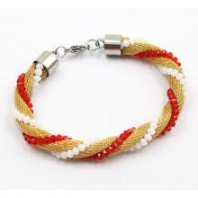 Bijoux Bracelet en acier inoxydable en maille de mode pour filles