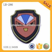 LB286 Bulk Cheap 3D Logo Vêtement en silicone étiquette en caoutchouc transparent pour chaussure / sac / vêtement