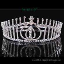 Klare Stein Crown Rhinestone Tiara Kristall Mädchen Kronen