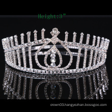 Clear stone Crown Rhinestone Tiara Crystal girls Crowns