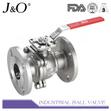 Válvula de esfera de flange com 2PC com almofada de montagem direta BS 150 libras