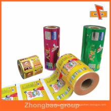 Custom made sacos de embalagem de alimentos laminados em rolo com impressão de gravura