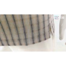 Linen Rayon Men Blouse Plaid Shirts Short Sleeves