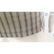 Льняная мужская блузка из вискозы, рубашки в клетку с короткими рукавами