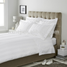 100% COTTON/POLYCOTTON WHITE STRIPE BED SHEET