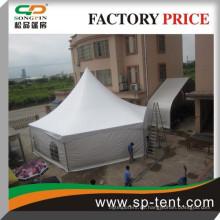 Hexagon Pagode Outdoor Event Zelt 4x8m mit weißen Futter und Vorhänge