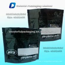 100g fermeture à glissière tenir le café / sac de koffee / papier d'aluminium moulu sac de fermeture à glissière de café avec l'encoche de déchirure