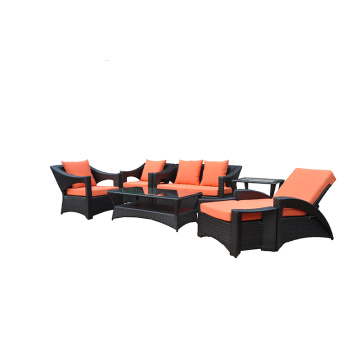Combination Sectional Sofas Rattan Sofa Set