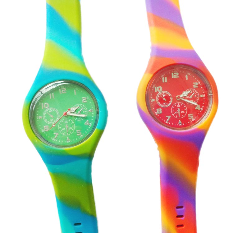silicone mix color watch