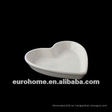 Peach forma aerolínea porcelana platos pequeños platos con base plana para hotel restaurant-eurohome AL 120