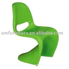 high gloss green fiberglass chair