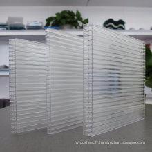 Feuille Multiwall de feuille de mur de feuille de polycarbonate (fabricant OEM disponible)