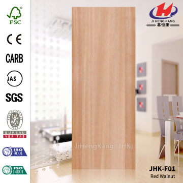 Flat Red Walnut MDF Veneer Door Skin