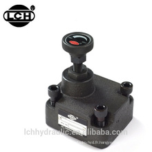 vanne hydraulique de contrôle du débit directionnel 112l / min 114 litres