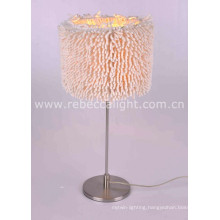 Satin Nickel Table Lamp for Indoor Decoration