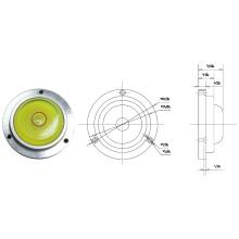 Mini nivel de burbuja redonda con base de metal