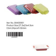 Moule carré coloré avec manche silicone