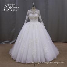 Кристалл для новобрачных платье с длинными рукавами блестками платье свадебное