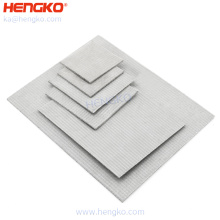 HENGKO Customed microns SS 316L filter sheet stainless steel powder porous plate 90 micron sintered filter for food industry
