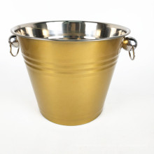Factory Supply Stainless Steel Champagne Wine Beer Round Ice Bucket for Freezer