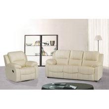 1 + 3 seater sofá, sofá de couro moderno, sofá reclinável de tipo Manual (GA01)