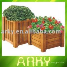 Wooden Garden Flowerpot