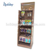 Suporte de exposição dos brinquedos dos suportes de exposição do gancho do cartão com painel LCD