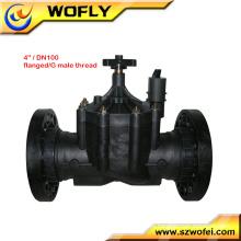 Água de irrigação de baixa pressão 220vac válvula solenóide de 4 polegadas