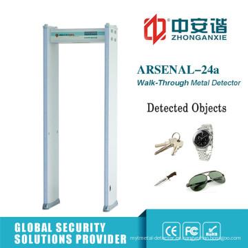 Pantalla LED 18 zonas a través de detector de metales con luces LED de alarma