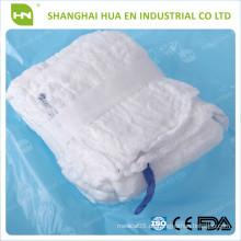 Heißer Verkauf medizinischer 100% cotton sterile verpackter Abdominal Gaze Schwamm mit 5pcs / pack
