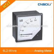 Medidores de panel montados 6L2-W / var 80 * 80mm medidores analógicos de panel de potencia