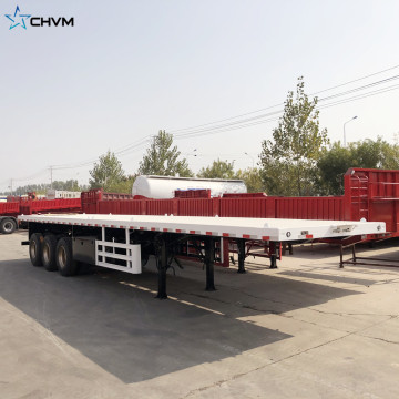 Flatbed Transport Container Truck Oplegger