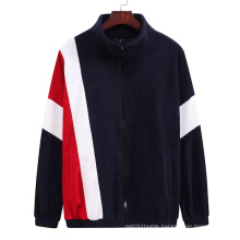 2021 Oversized Autumn New Large Size Men's Loose Collar Cardigan Color Matching Plus-Size Hoodies