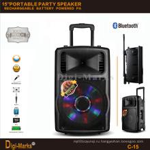 Гуанчжоу Производитель Цена Многофункциональный Bluetooth Стерео Аккумулятор Активный Trolley Speaker