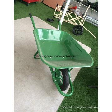 Roue de couleur verte brouette Wb6400