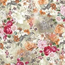 Изготовленное на заказ цифровое печатное платье из полиэстера с цветочным рисунком и шифоновая ткань