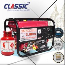 CLASSIC (CHINA) Générateur portable à gaz monophasé à courant alternatif à courant alternatif, générateurs LP approuvés par CE, générateurs LP à économie de carburant à vendre