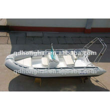 fiberglass hull boat RIB430 with CE