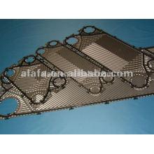 placa de titanio la placa intercambiador de calor, intercambiador de calor de repuesto