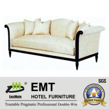 Sofá de madeira de alta qualidade com sofá confortável para o hotel (EMT-SF29)