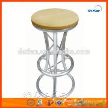 light,delicate aluminium truss bar chairs