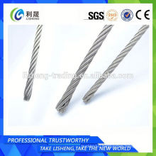 7x19 12mm Aisi 316 Stainless Steel Wire Rope