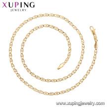 45011 xuping 18k plaqué or simple style de mode Aucun collier de chaîne en pierre