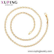 45011 xuping 18k gold plated simple Fashion style No stone chain necklace
