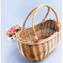 (BC-ST1102) High Quality Handmade Willow Shopping Basket