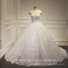 Vestido nupcial rebordeado pesado de los vestidos de boda del nuevo del amor de Alibaba del amor blanco elegante del vestido vestidos de novia 2016 LWB04