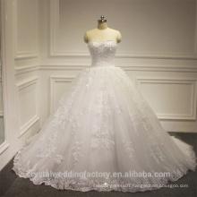 New Elegant Alibaba White Sweetheart Ball Gown Heavy Beaded Lace wedding Dresses Bridal Gown vestidos de novia 2016 LWB04