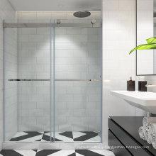 Seawin Aluminium Profile Industry Exterior Frameless Wheel Roller Track Double Glazed Sliding Shower Doors