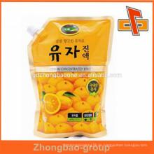 Plastikbeutel Firma Kundenspezifische Nahrungsmittelgrad Plastiktaschen für flüssige Getränkeverpackung